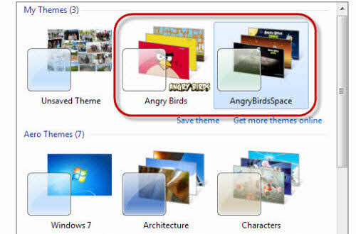 Thay giao diện Angry Birds cho Windows - 2
